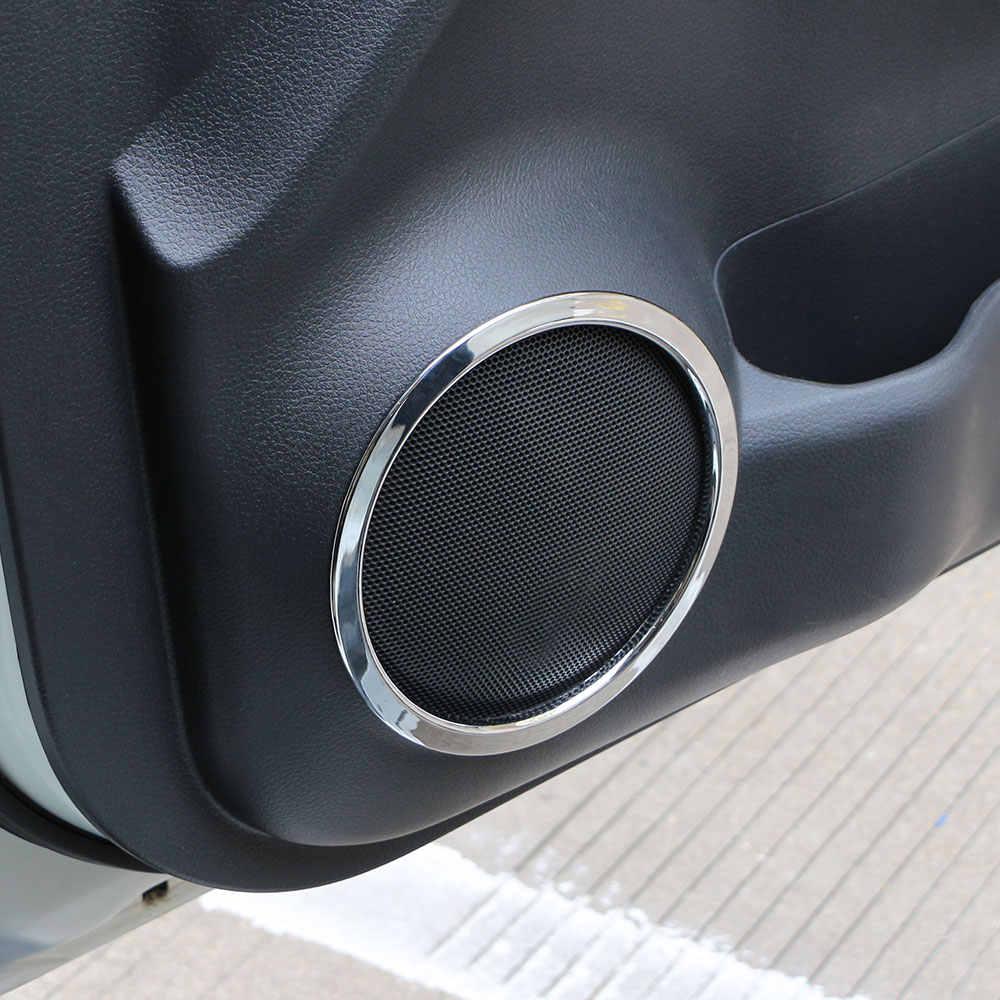 4 個日産エクストレイル Xtrail 不正 T32 2013-2017 車のドアの音ステレオオーディオカバートリムリング ABS ツイータースピーカーカバー