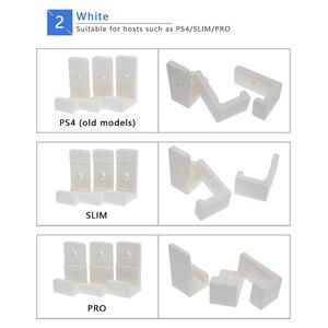 Image 5 - עבור PS4 פרו PS4 Slim משחק קונסולת תליית קירור Stand נגד החלקה סיליקון קיר הר מתלה שבב קיר מקל dock Stand חובט