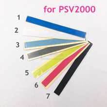 7 ألوان اختياري استبدال ملصق التسمية الأصلي ل PSV2000 ل PS Vita 2000 وحدة التحكم الخلفي قذيفة