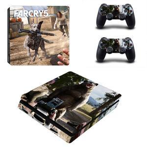 Image 2 - FARCRY Weit Cry 5 PS4 Dünne Aufkleber Play station 4 Haut Aufkleber Decals Für PlayStation 4 PS4 Slim Konsole & controller