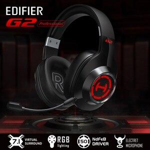 Image 2 - EDIFIER G2II אוזניות משחקי 7.1 סראונד 50mm יחידת נהג RGB דינמי תאורה אחורית מערכת מיקרופון עם רעש ביטול