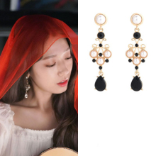 2color retro DEL LUNA Hotel IU palace Korean dramas TV Fashion Eardrop Elegant For Women Earrings pendientes brincos ornament