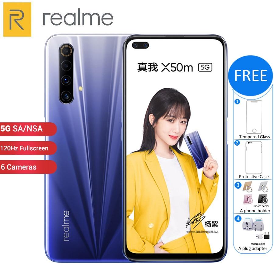 New Original Realme X50m 5G Mobile Phone 128GB 8GB /6GB 6.57