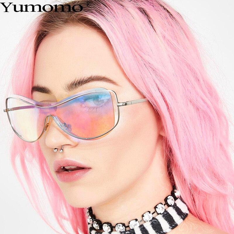 Gafas de sol curvadas sin montura para hombre y mujer, anteojos de sol unisex de alta calidad, de marca de diseñador, estilo Vintage con degradado, con UV400