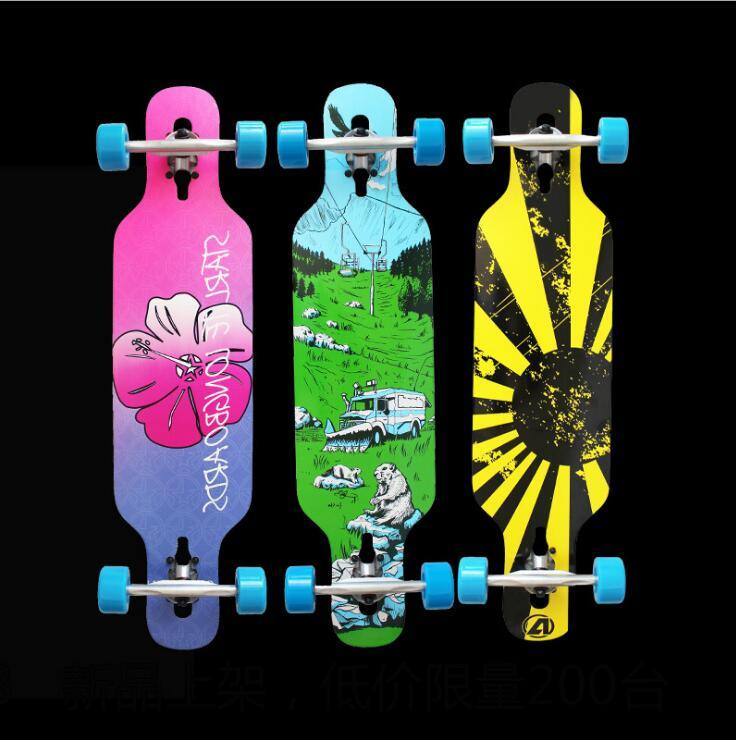 Completed MINI Longboard Skateboard 36 Inch Dancing Long Board Men Women Professional Longboard 92CM