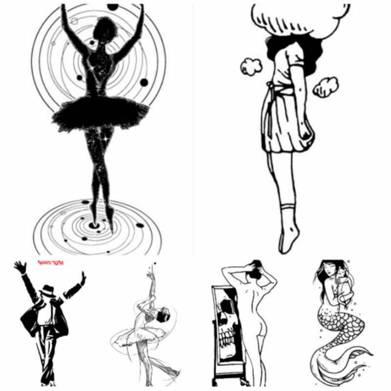 1 قطعة فتاة Kawaii الوشم للرجال والنساء حفلة Favors المؤقتة الجسم الفن الكتف الوشم ملصق تأثيري الطرف