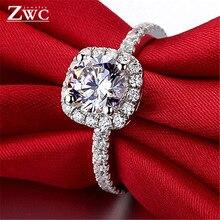 ZWC модные Хрустальные Обручальные Когти Дизайн Горячая Распродажа кольца для женщин AAA белый циркон кубические элегантные кольца женские украшения для свадьбы