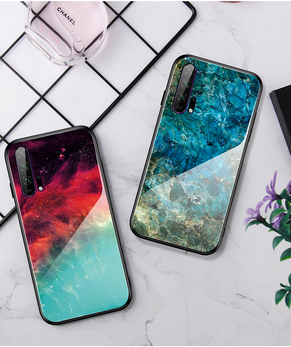 H77cfbb37a9cf42898e4142e09821af81s Phone Case for Huawei Honor 20s 20 Case Marble Tempered Glass Soft Tpu Frame Back Case for Huawei Honor 20s Honor 20 Pro Case