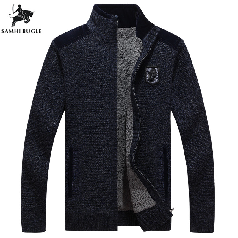 Mens Sweaters for 2019 Winter Brand Sweater Men Cashmere Thickener Zipper Cardigan Pull Homme Turtleneck Sweater