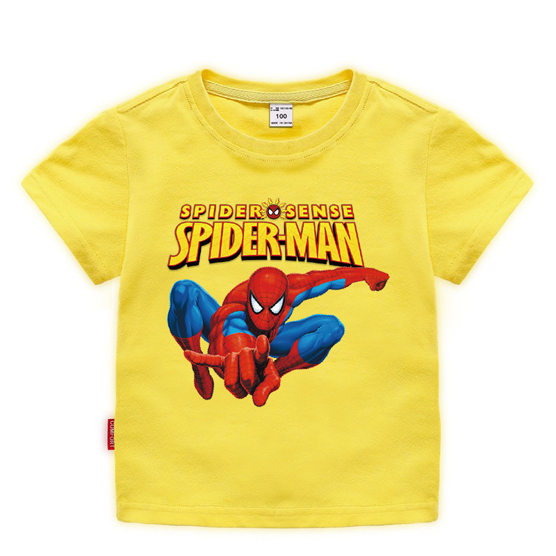 Disney Baby Spiderman T-shirt Childrens Boys Top Girls Cotton Clothing T-shirt Kids Cartoon Short Sleeve Tee Clothes Summer 2020 1