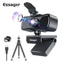 Essager-cámara Web C3 1080P Full HD para ordenador, portátil, USB, con micrófono, autoenfoque, Webcam para Youtube