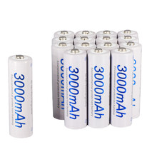 PALO 2-24 pcs rechargeable AA 2A battery 1.2V 3000mAh AA 2A nimh ni mh ni-mh 100% original high capacity current batteries(China)