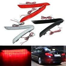 Par amortecedor traseiro do carro led luz de nevoeiro refletor luzes traseiras freio parar lâmpadas para bmw série 5 f10 f11 f18 520d 520i 523i 525d