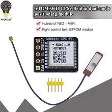 Gps + bds módulo de modo duplo controle de vôo satélite posicionamento navigator, atgm336h substituição, para arduino NEO-M8N NEO-6M