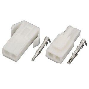 Image 4 - 10 conjuntos de EL 2P pequeno conector eletrônico tamiya 4.5mm braçamento, EL 4.5 2p conectores macho e fêmea + terminais