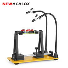 NEWACALOX Soldering PCB Fixing Clips 2PC Magnetic Flexible Arm Welding Third Hands Soldering Helping Hand Tool Soldering Station