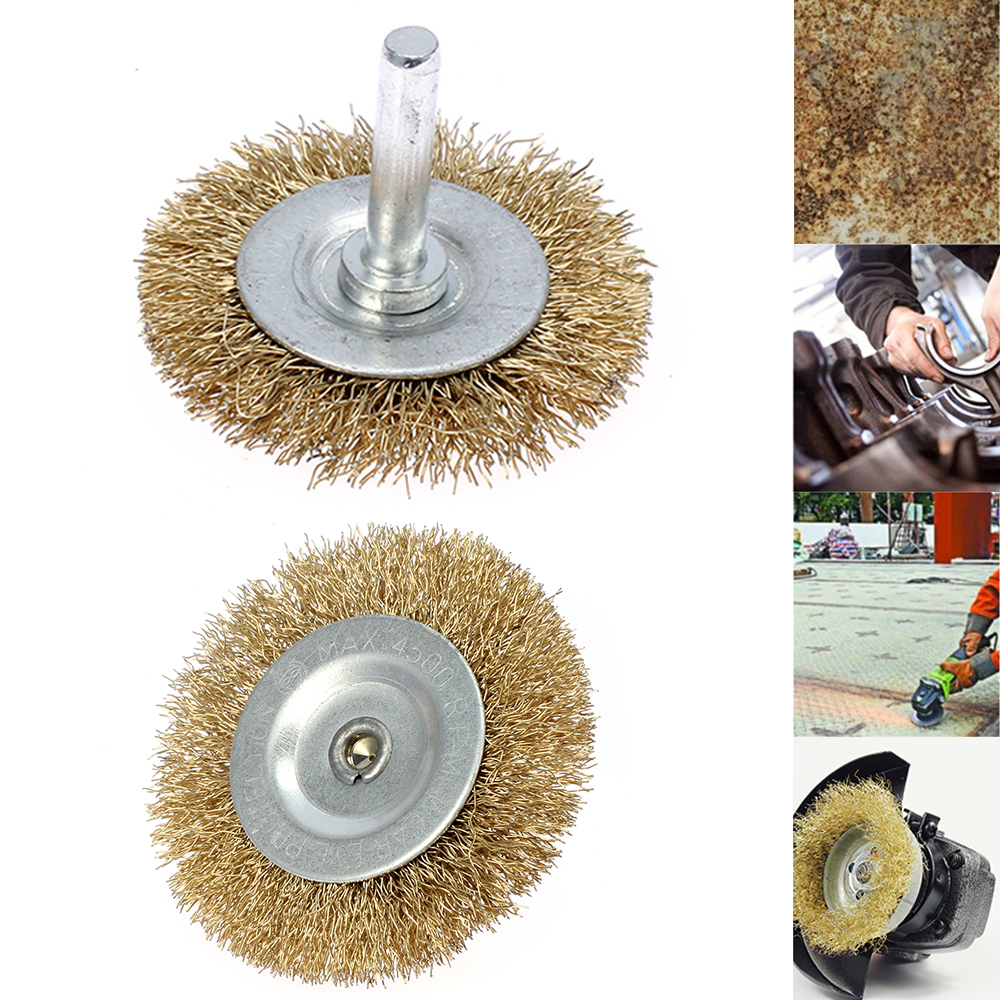 Rotary Steel Wire Wheels Brushes for Grinder Drill Polish Clean Remove Rust 20Pc