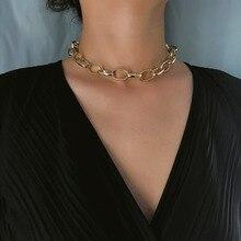 Модное ожерелье-цепочка для женщин золотое/серебряное ожерелье s хип-хоп чокер с массивной цепью готические ювелирные изделия