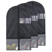 100% POLYESTER Garment Bag Storage Dress Clothes Foldable Suit Cover Zipper clothes cover storage bag