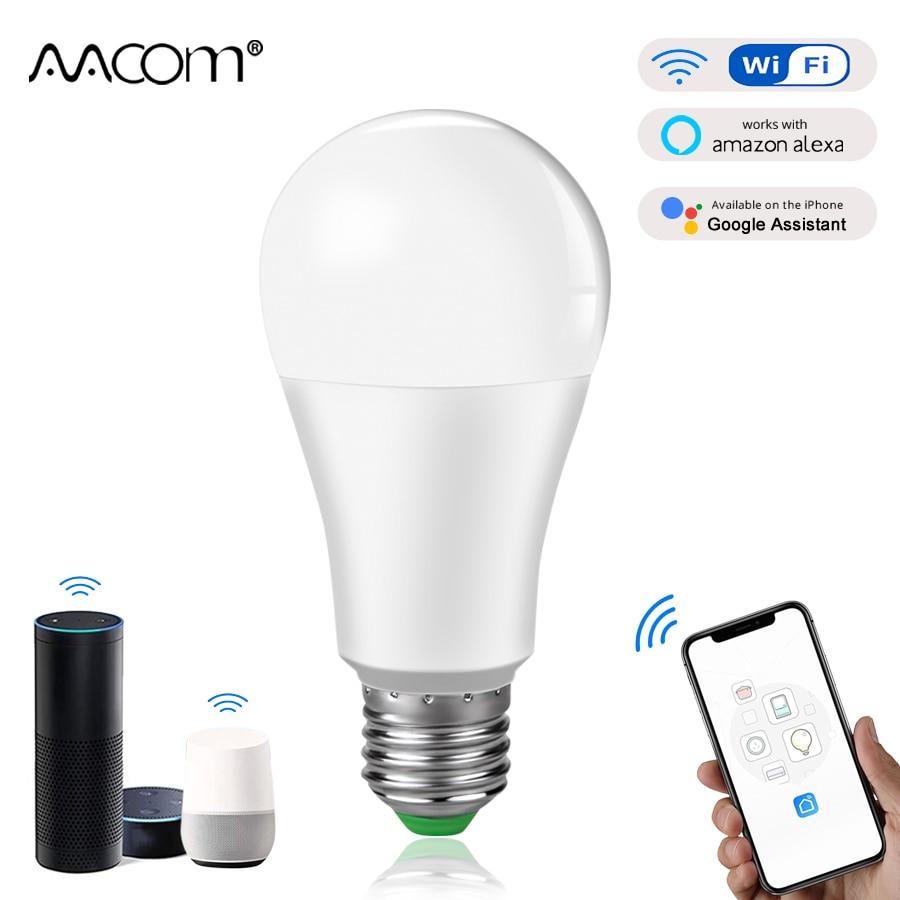 15W WiFi Smart Light Bulb Ampoule LED E27 B22 Intelligent Lamp lampada Work With Echo alexa google Assistant Voice Control