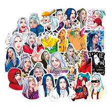 50Pcs Billie Eilish Cartoon Sticker Waterdicht Koffer Diy Laptop Gitaar Skateboard Speelgoed Mooie Stickers(China)