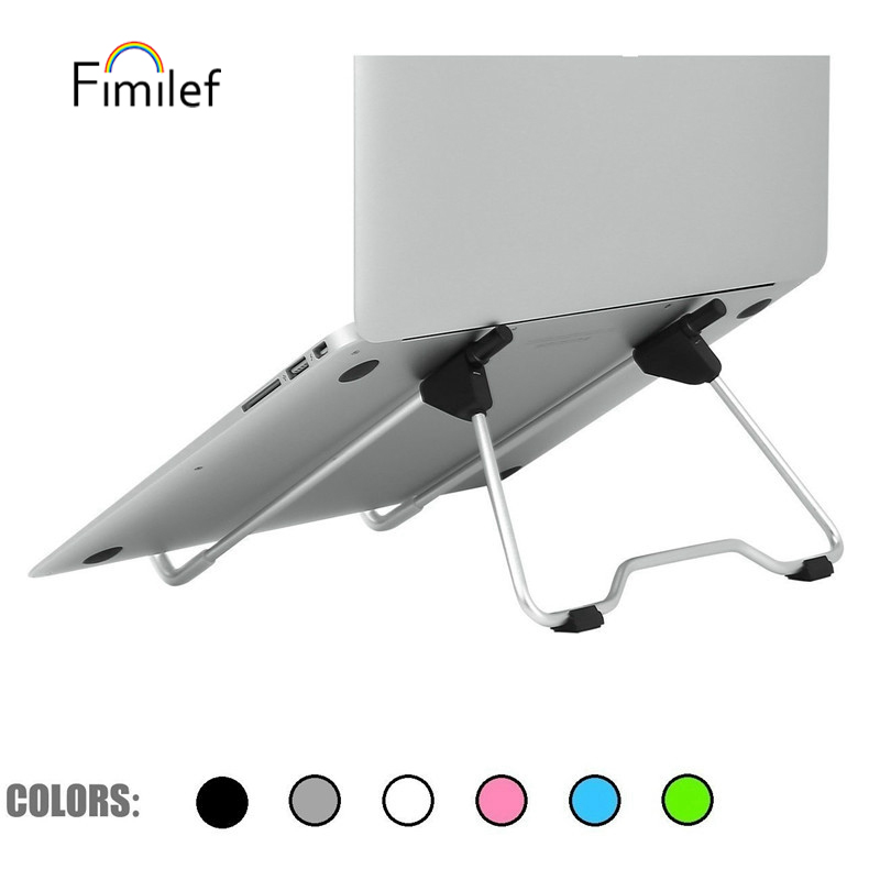 FIMILEF Universal Portable Laptop Stand Foldable Tablet Holder Aluminium Notebook Stand For Desk Laptop Moblie Phone Tablet