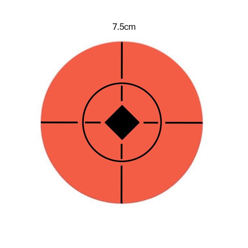 100 Roll Shooting Target Paster High Quality Shooting Target Bullseye Splashing 7.5cm Reactive Sticker Splashing Target Sticker