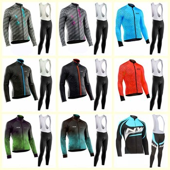 2019 Spring Breathable Cycling Jersey Set MTB Maillot Ropa Ciclismo Long Sleeve Bike Clothes