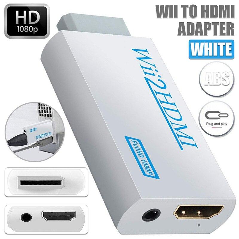 Cabo adaptador de áudio wii2hdmi full hd, conversor de áudio 1080p wiihdmi 3.5mm para hdtv