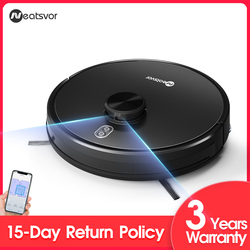 NEATSVOR X600 Robot Vacuum Cleaner, Laser Map Navigation,APP Virtual wall,4000Pa Suction,Save Map,Sweep Wet Mopping Disinfection