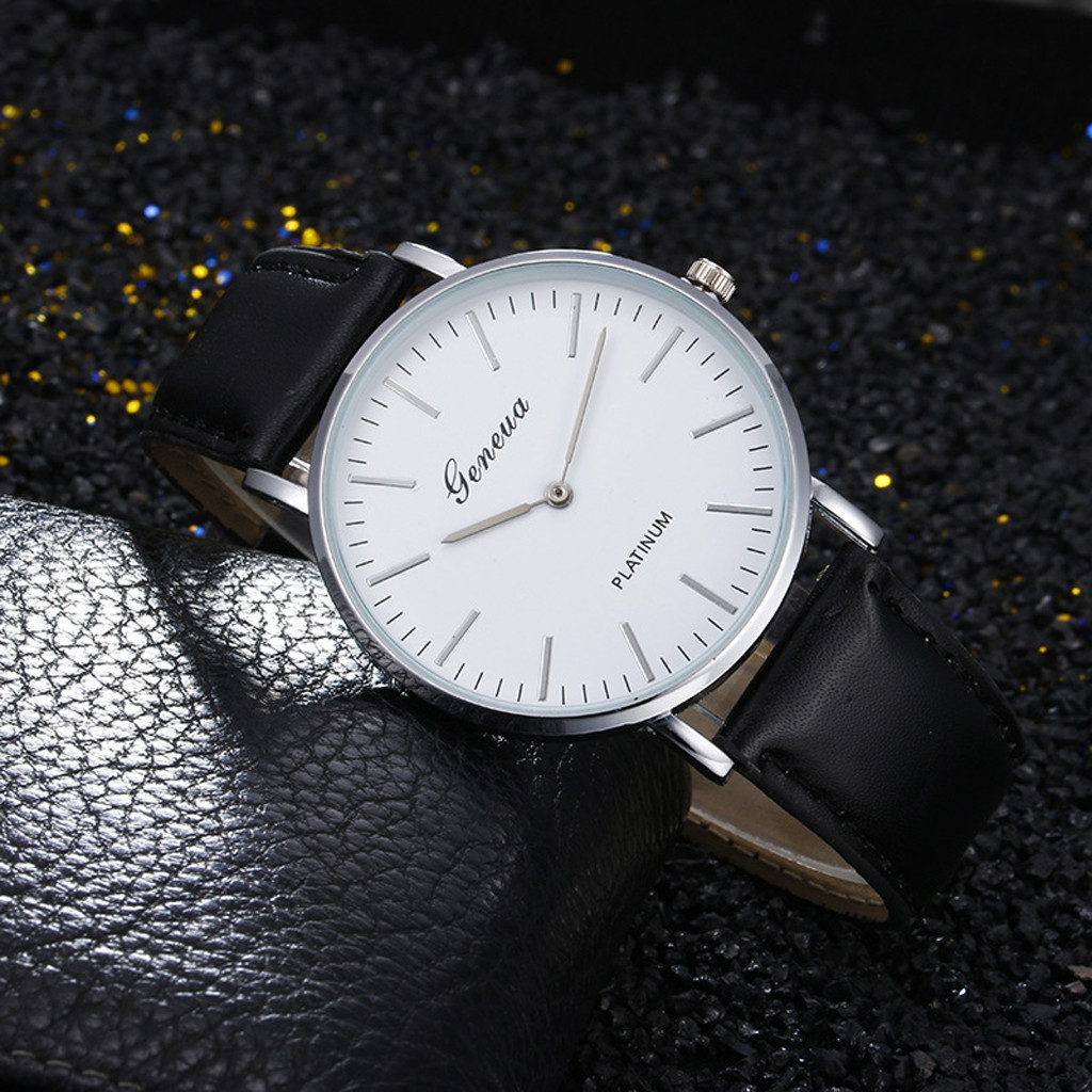 Watch Men Fashion Retro Ultra Thin Leather Band Analog Quartz Ladies Dress Wristwatch Mens Watch Relogio Masculino 2019 O/N4