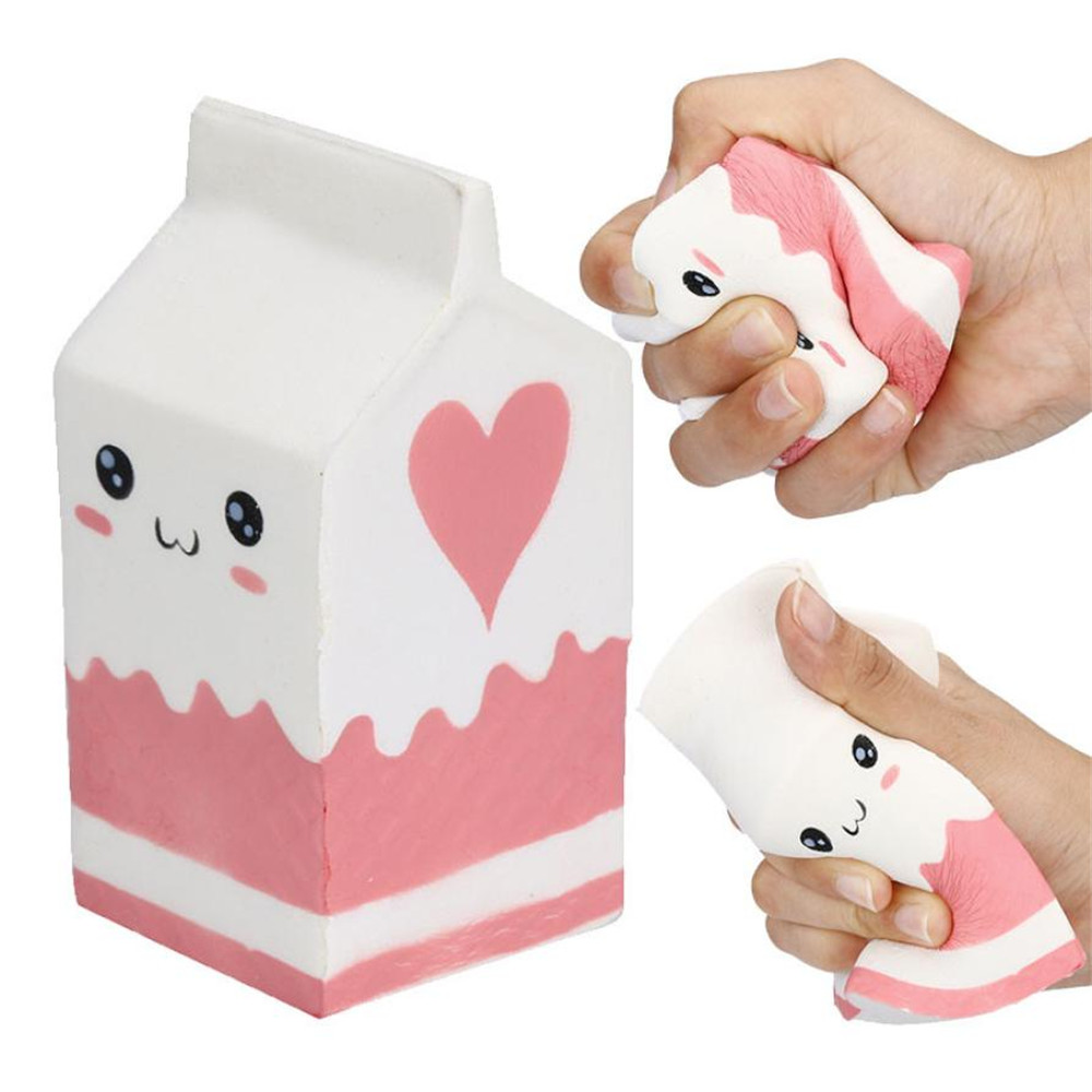 Jumbo Milk Carton Squishy Toys PU Simulation Series Toys Slow Boost Cream Scented Soft Squeeze Toy Anti stress for Kid Gift