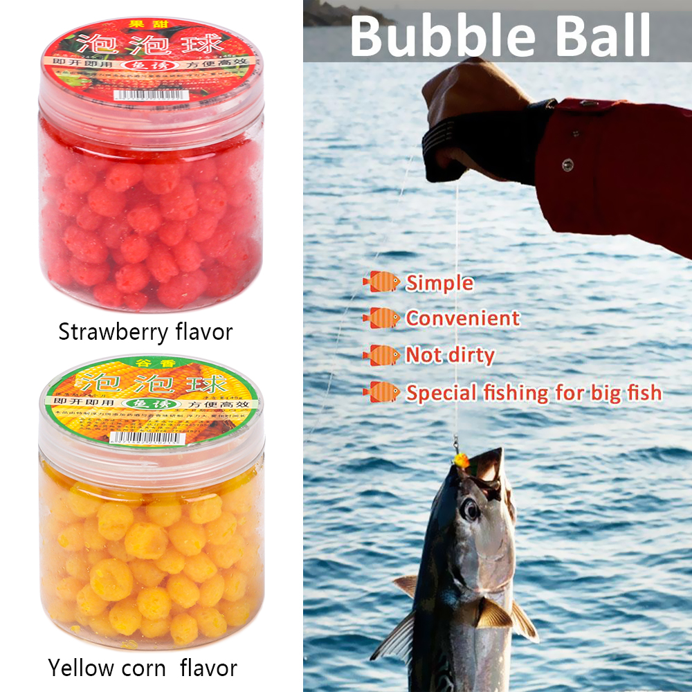 Carp fish food fruity Fragrant Lure Fish Floating Bait Bubble Ball Fishing Lure
