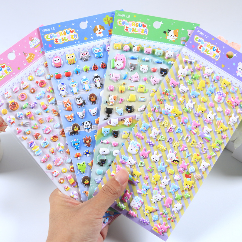 New Arrival Cute Mini Animals Puffy 3D Stickers DIY Scrapbooking Bullet Journal Sticker Diary Stationery Decorative Supply