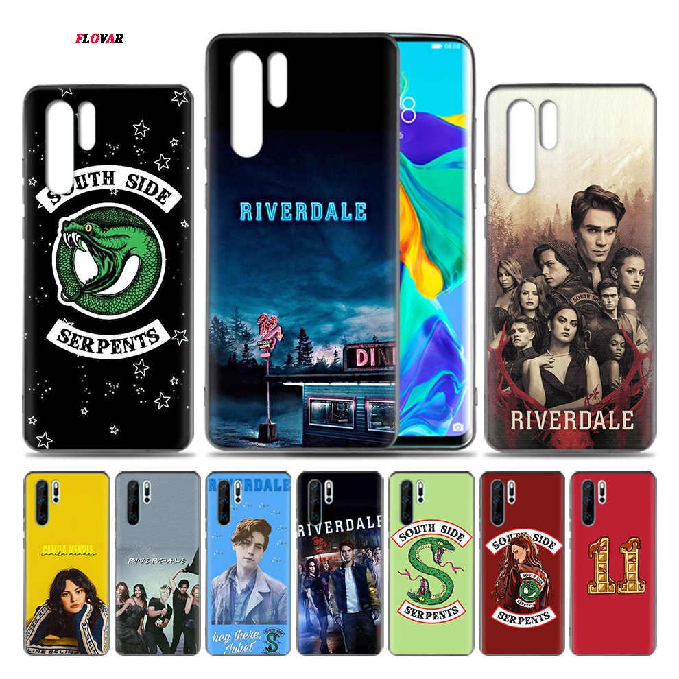 テレビ Riverdale プリント TPU ソフト電話ケース Huawei 社 P20 P30 P9 P10 メイト 10 20 30 Lite Pro の P スマートプラス Z 2019 2017 カバーシェル