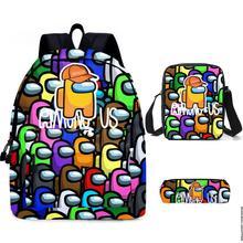 Bolsa Pencil-Case Bagpack School-Bags Bookbag Teenagers Girls for Among Impostor 3pcs/Set