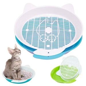 Поднос для туалета для кошек, котят, кроликов, поднос для обучения, для маленьких домашних животных, кошек, животных, хомяков, мочи, синий, зел...