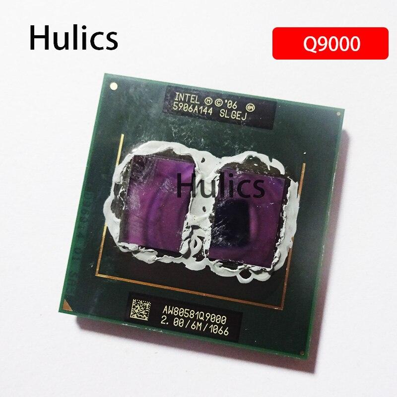 Hulics Original Intel Core 2 Quad Mobile Q9000 SLGEJ 2.0 GHz Quad-Core Quad-Thread CPU Processor 6M 45W Socket P
