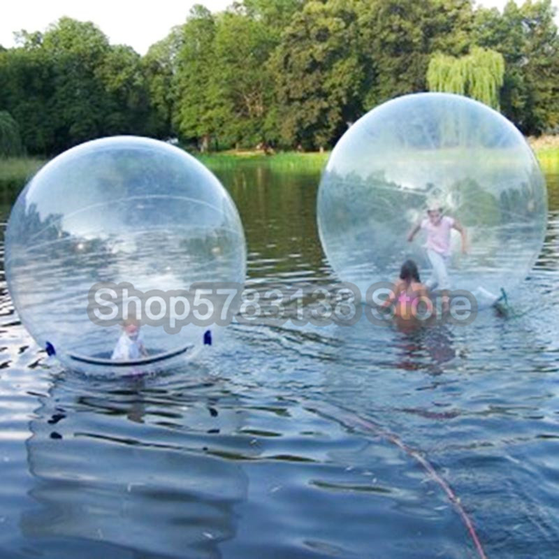 1.5M Diameter Water Walking Ball For Human Go Inside Clear Water Zorb Ball With Zipper Transparent Dancing Wall/Hamster Ball