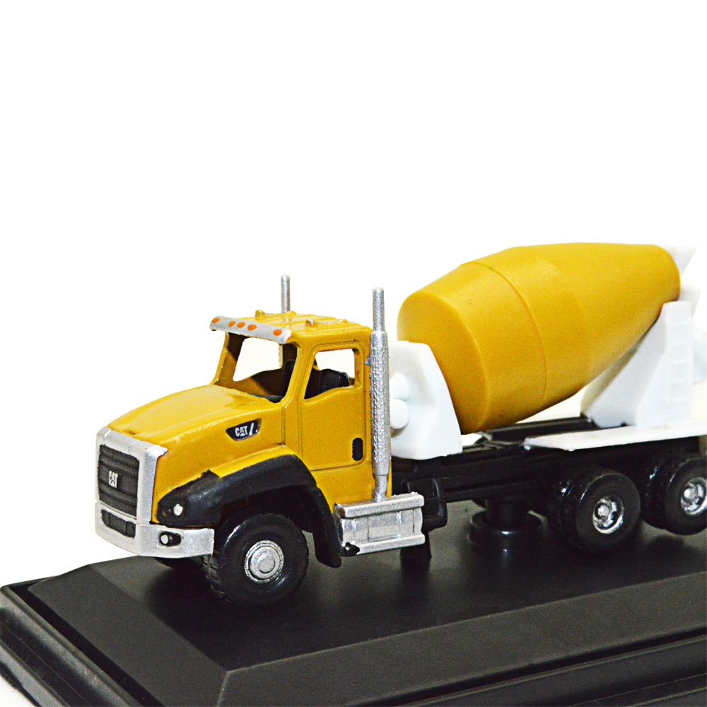 1/160 Yellow Construction Engineering Vehicle Toy 1pc Model Alloy Simulation Children Cement Mixer Truck Project
