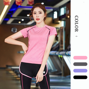 Clothes Short-Sleeved Running T-shirt Women's Spring and Summer New Sports Coat Fitness Clothes Training Slim Fit Clothes