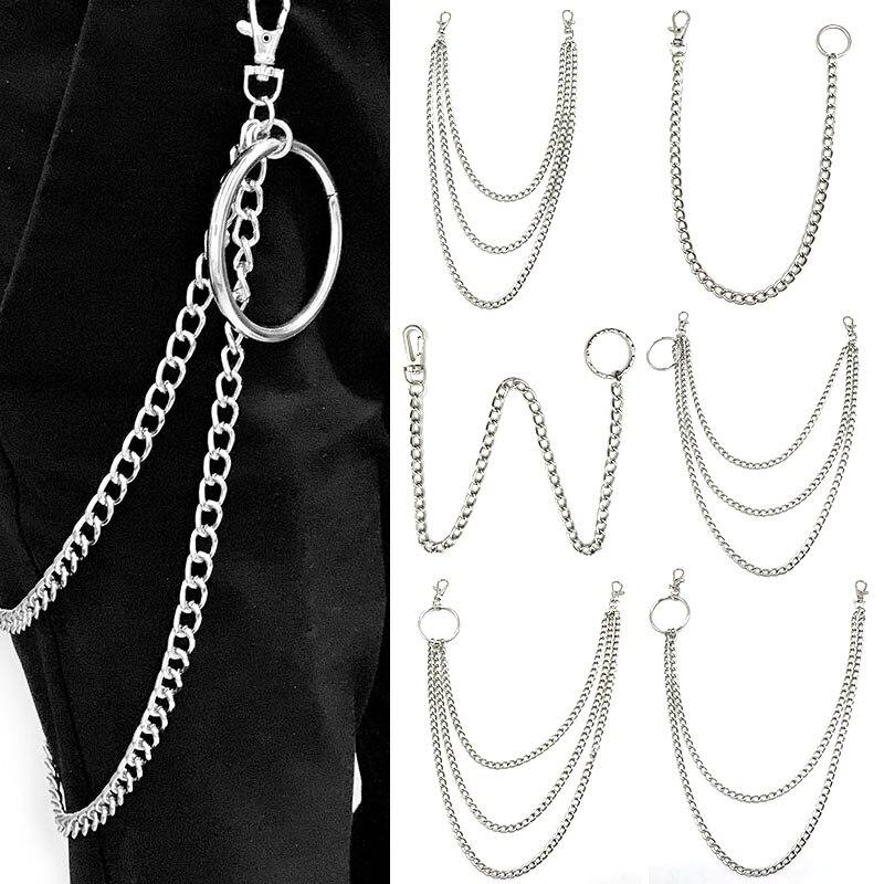 Street Big Ring Pendant Key Chain Rock Punk Trousers Hipster Key Chains Pant Jean Keychain HipHop Portachiavi Kpop Accessories