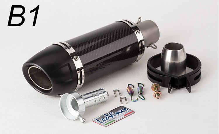 修正された排気管炭素繊維排気 db のキラーのため LC150 MT07 Z250 Y15 K7 K8 K9 leovince 排気