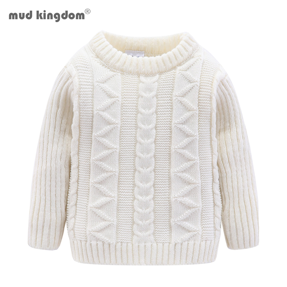 Mudkingdom Boys Sweater Pullover Solid Autumn and Winter Cotton Knitted Sweater Girls Tops Kids Sweaters 1
