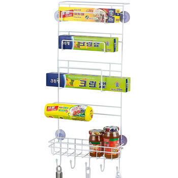 Multi Layer Kitchen Organizer and Refrigerator Side Hanging Rack for Storage of Paper Towel and Cling Films