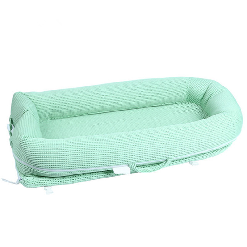 Portable Crib Cot Toddler Cradle Cot Baby Nest Bed Nursery Foldable Removable Washable Travel Baby Bed With Bumper Mattress