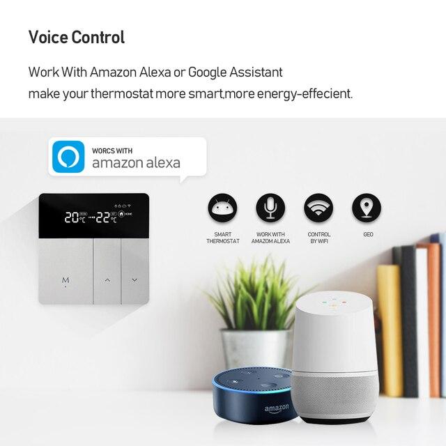 Tuya Smart WiFi Thermostat Temperatur Programmierbare Controller für Wasser Elektrische Boden Heizung Arbeitet Mit Alexa Google Hause 2
