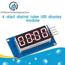 TM1637 moduł wyświetlacza LED dla Arduino 7 Segment 4 bity 0 36 Cal zegar czerwona anoda cyfrowy w kształcie tuby cztery szeregowe płyta sterownicza opakowanie tanie tanio ACELEX Elektryczne NONE CN (pochodzenie) TM1637 LED Display Module For Arduino 7 Segment 4 Bits 0 36Inch Clock