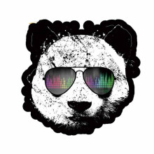 13cm x 13.2cm for Panda Wearing Sunglasses Car Stickers Vinyl Car Sticker DIY Hi
