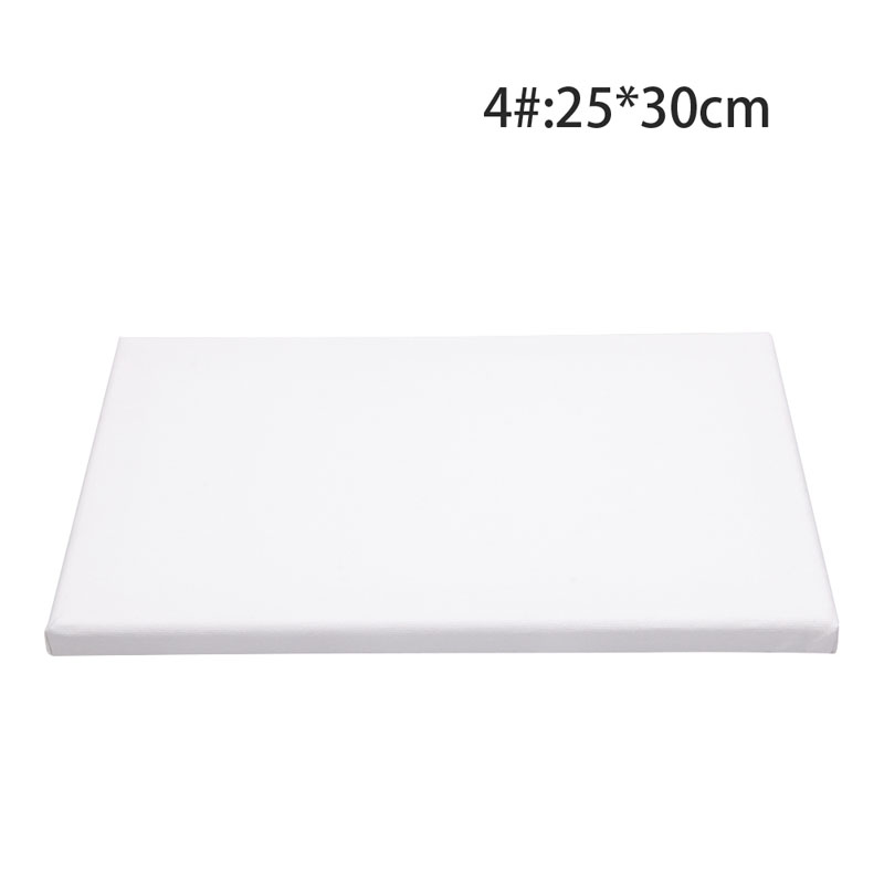 White Blank Square Artist Canvas Wooden Board Frame For Primed Oil Acrylic Paint
